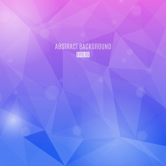 Abstract background with transparent triangles in pink and violet gradient colors. modern design background