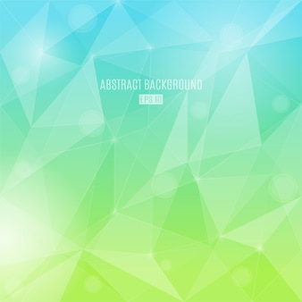 Abstract background with transparent triangles in summer colors.