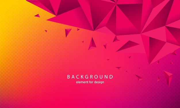 Abstract background with triangles in 3d style