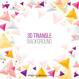 Abstract background with triangular shapes