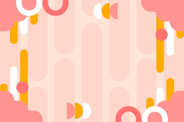 Abstract background with various shapes