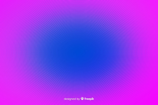 Abstract background with vibrant halftone effect