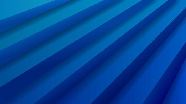 Абстрактный фон с объемной лестницей в синих тонах