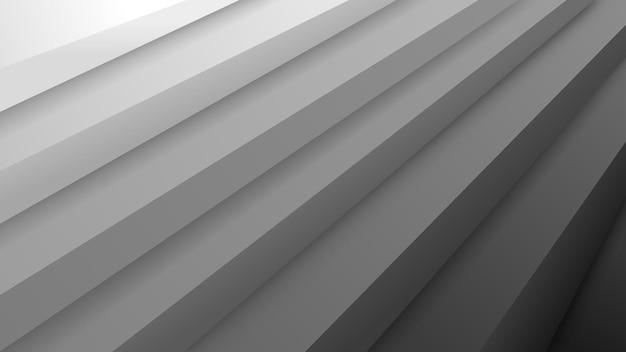 회색 색상의 체적 계단이 있는 추상적인 배경