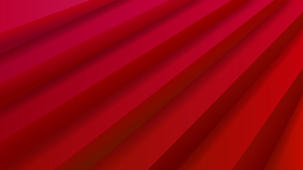 붉은 색의 체적 계단이 있는 추상적인 배경