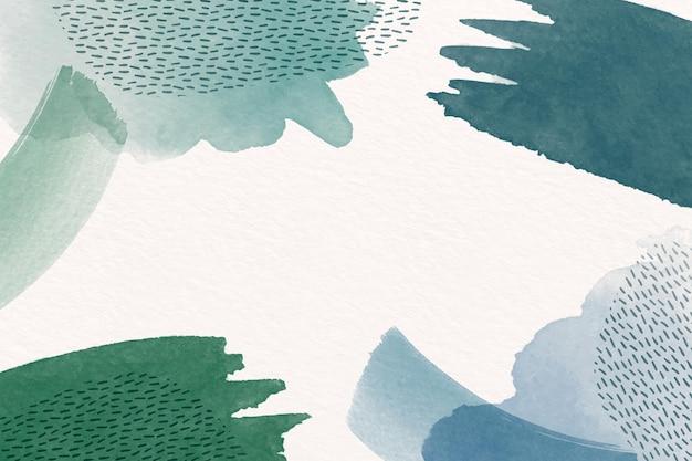 水彩の形と空のスペースと抽象的な背景