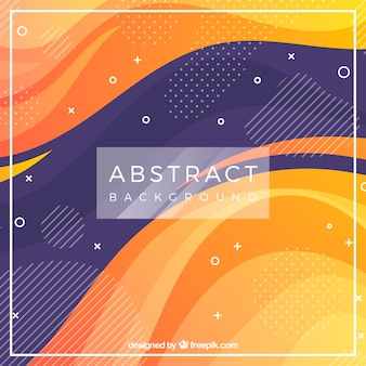 Abstract background with waves and colors