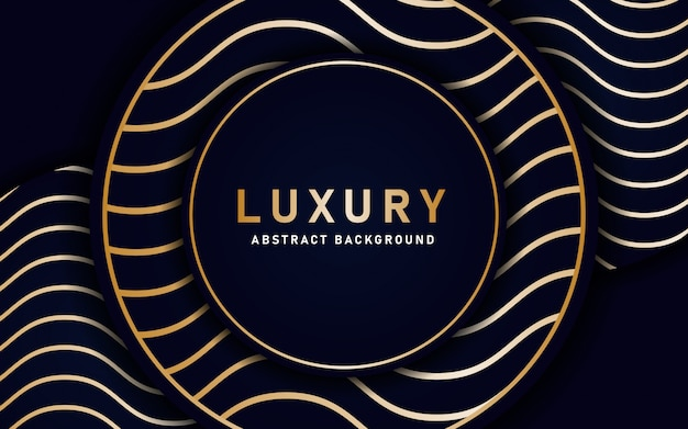 Abstract background with wavy gold lines depicting luxury.