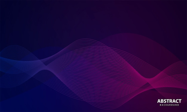 Abstract background with wavy line
