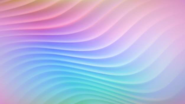 다양한 그라데이션 색상의 물결선이 있는 추상 배경