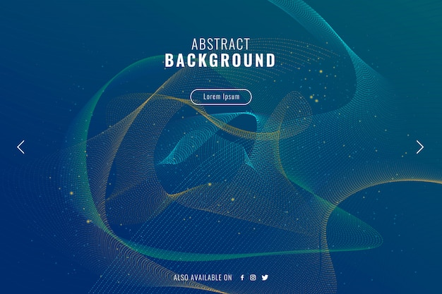 Abstract background with wavy particles