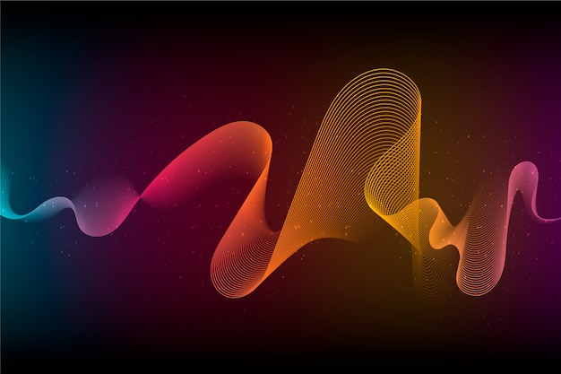 Abstract background with wavy shape