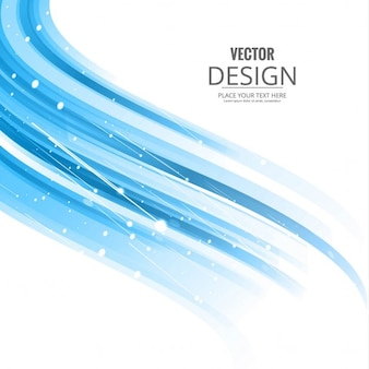 Abstract background with wavy shapes, blue color