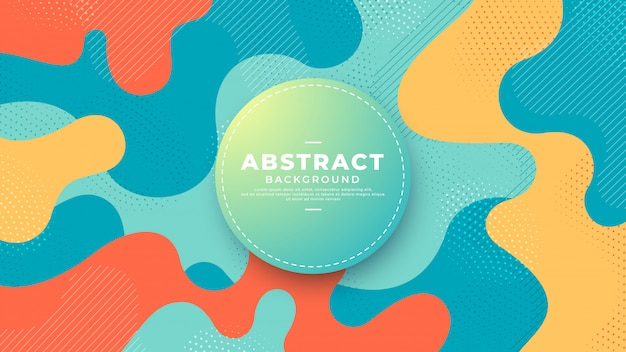 Abstract background with wavy shapes.