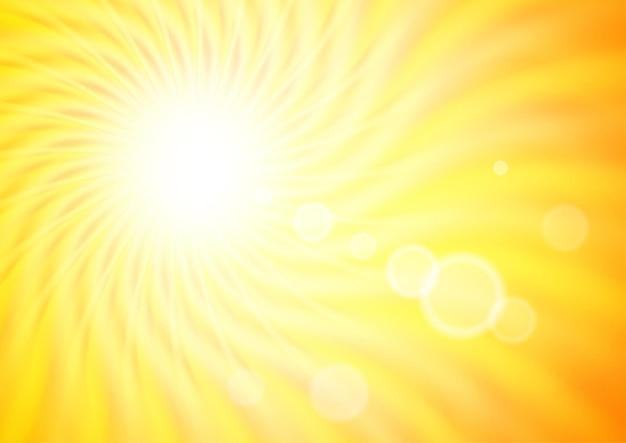 波状の太陽の光と抽象的な背景