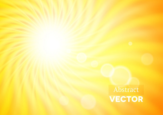 波状の太陽と抽象的な背景