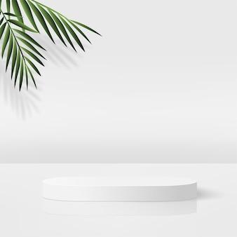 흰색 기하학적 3d 연단으로 추상적 인 배경입니다.