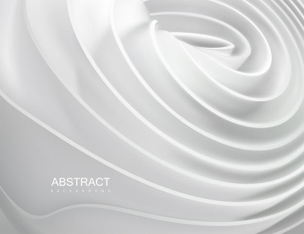 흰색 탄성 리본으로 추상적 인 배경