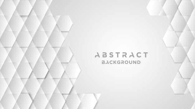 Abstract background with white hexagonal shapes
