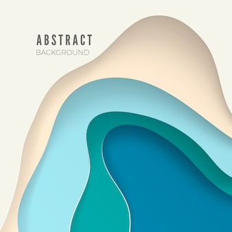 Abstract background with white paper cut shapes.  layout for business presentations, flyers, posters.  illustration