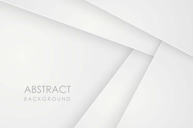 Abstract  background with white paper layers.  geometric illustration of overlap. graphic  element. minimal design. decoration for business presentation