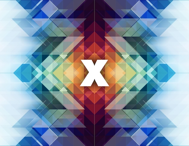 Abstract background with x shape