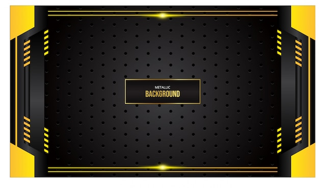 Abstract background with yellow border on black background