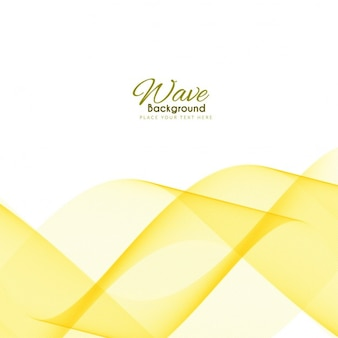 Abstract background with yellow wavy shapes