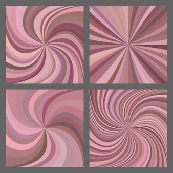 幾何学的なスタイルで抽象的な背景コレクション