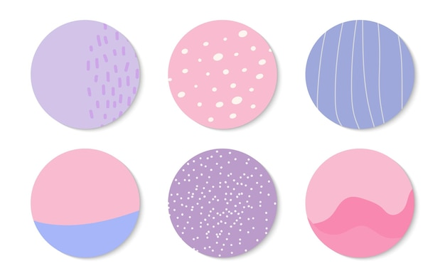 Abstract backgrounds icon set templates backdrop creative modern art hand drawn different shapes and...