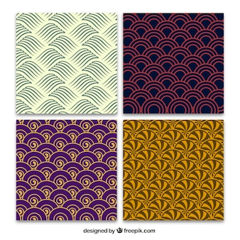 Abstract backgrounds in japanese style