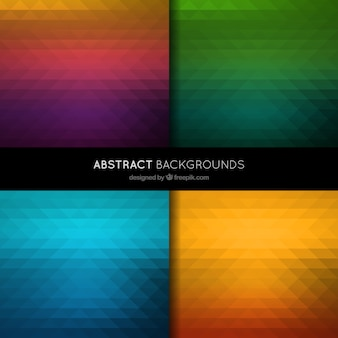 Abstract backgrounds in polygonal style
