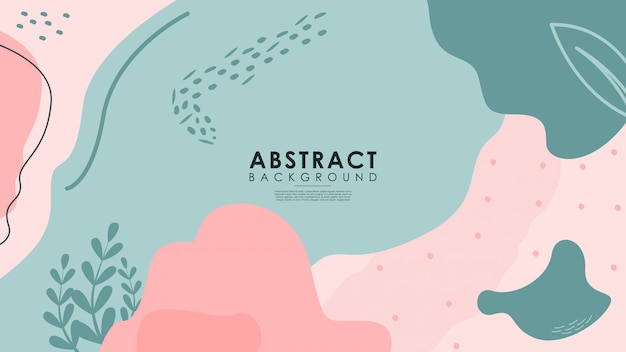 Abstract backgrounds of various cute shapes