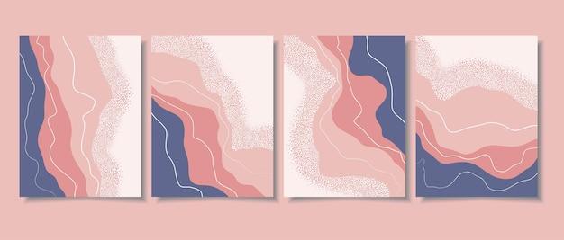 最小限の形と線画で抽象的な背景
