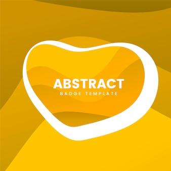 黄色の抽象的なバッジデザイン