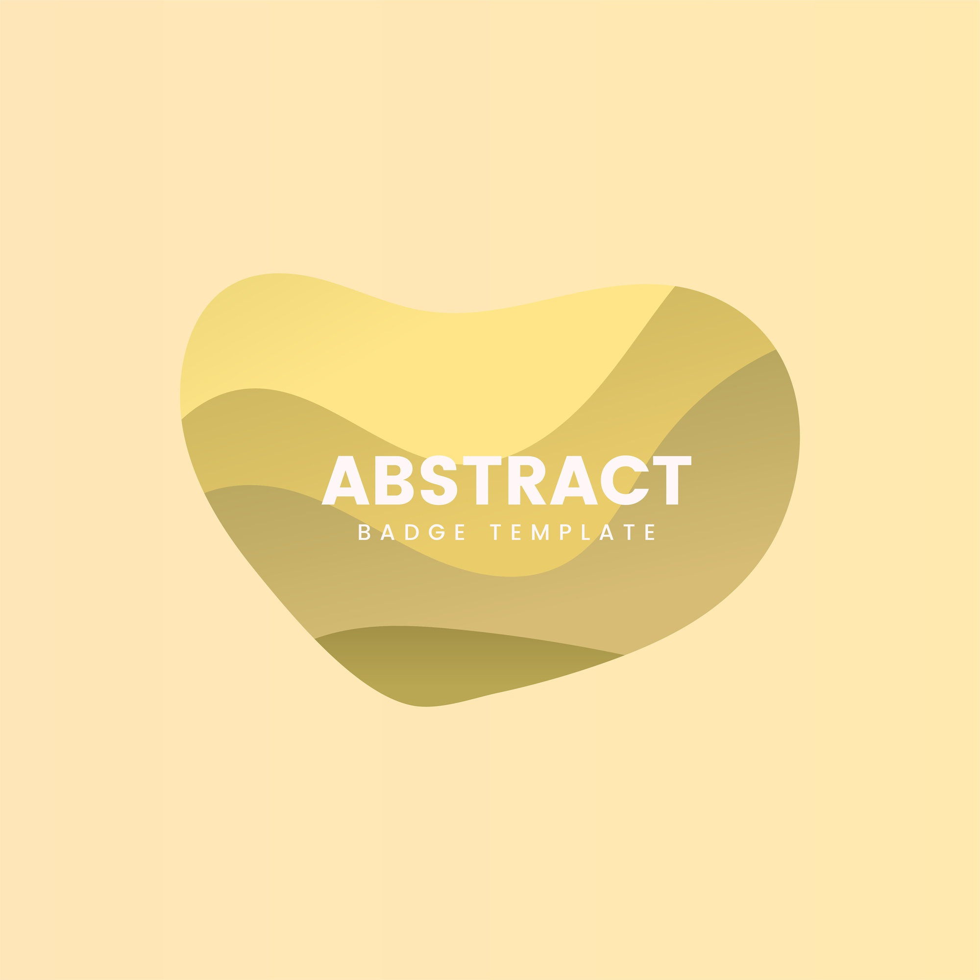 Abstract badge design in yellow