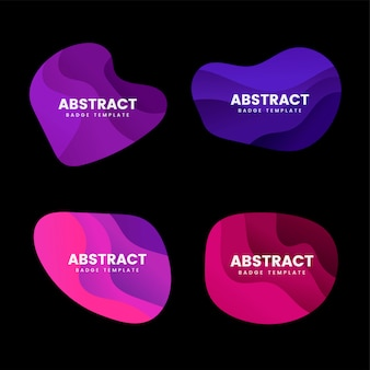 Abstract badge design vector set