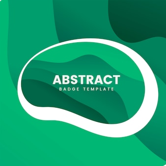 Abstract badge template in green