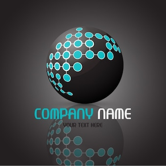 Abstract ball logo template