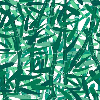 Abstract bamboo forest seamless pattern texture on white background.