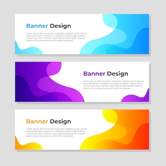 Abstract banner background design template