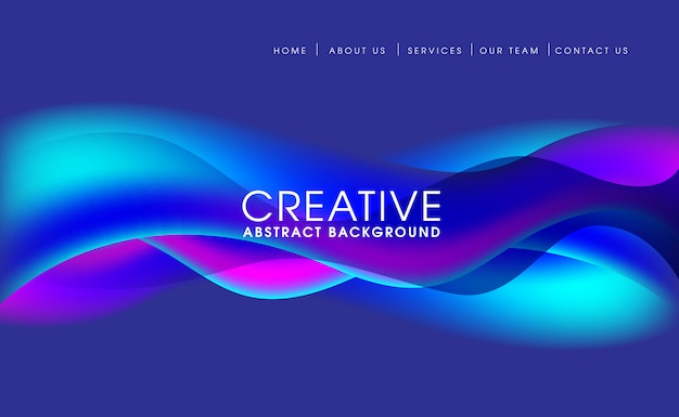 Abstract banner background geometric illustration