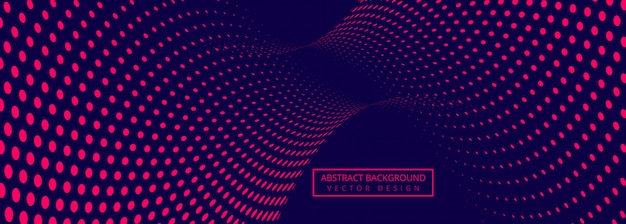 Abstract banner background with connecting dotted design
