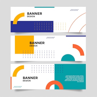 Abstract banner background with geometric shapes