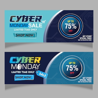 Abstract banner of cyber monday