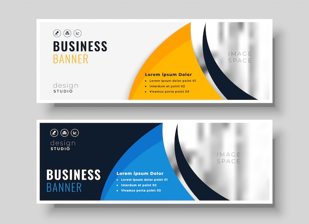 Abstract banner design in creative style