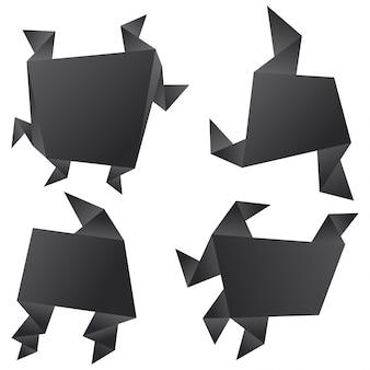 Set di progettazione banner astratta.