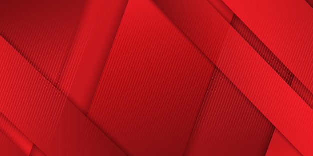 Abstract banner design in shades of red