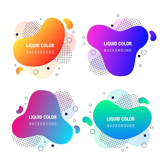 Abstract banner fluid vibrant gradient shapes collection
