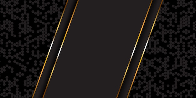 Abstract banner in gold and black